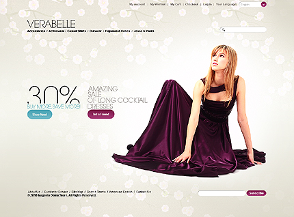 Verabelle - Clean Magento Fashion Store Theme