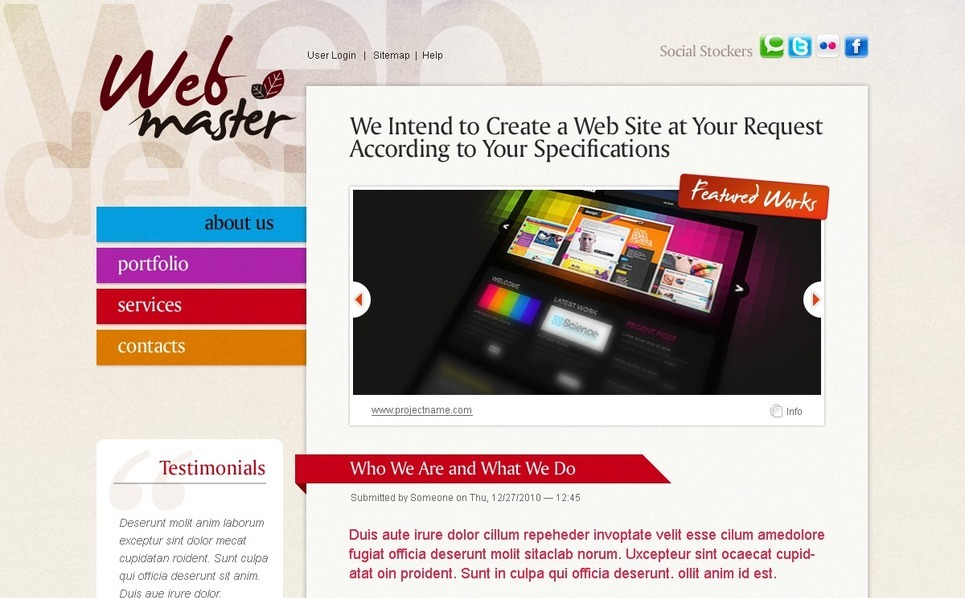Web Design Drupal Template New Screenshots BIG