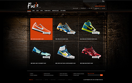 Fusion - Fantastic Footwear Store Magento Template
