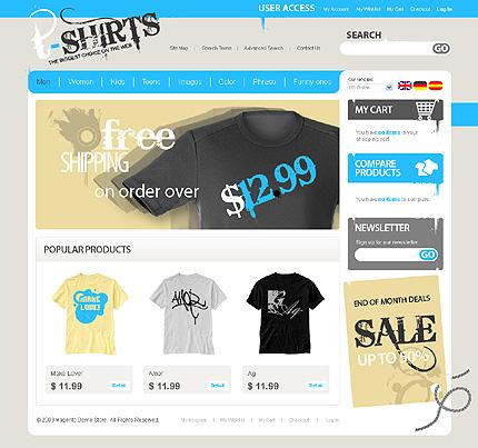 T-shirts - Best T-shirt Shop Magento Theme