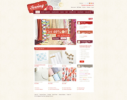 Sewing Store - Nice Looking Magento Handicrafts Theme