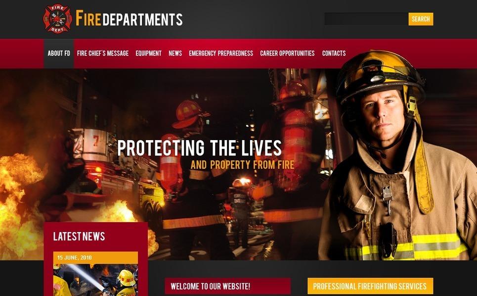 Fire Department Website Template New Screenshots BIG