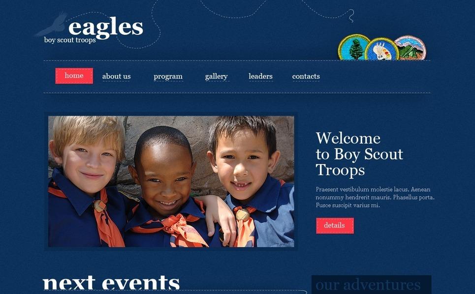 Boy Scout Website Template New Screenshots BIG