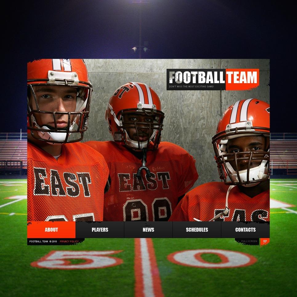 Football Flash Template New Screenshots BIG