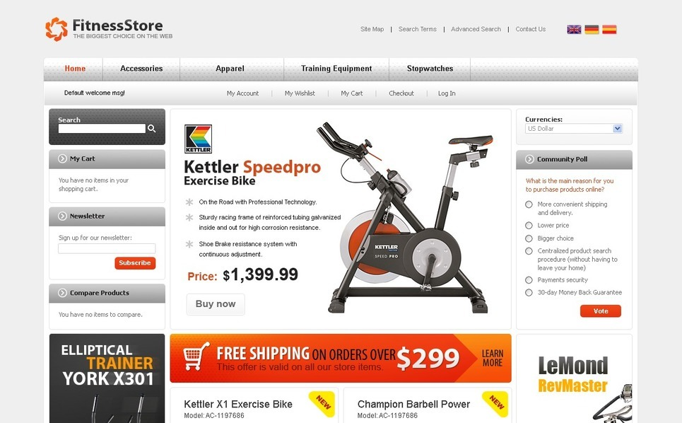 Sports Store Magento Theme New Screenshots BIG