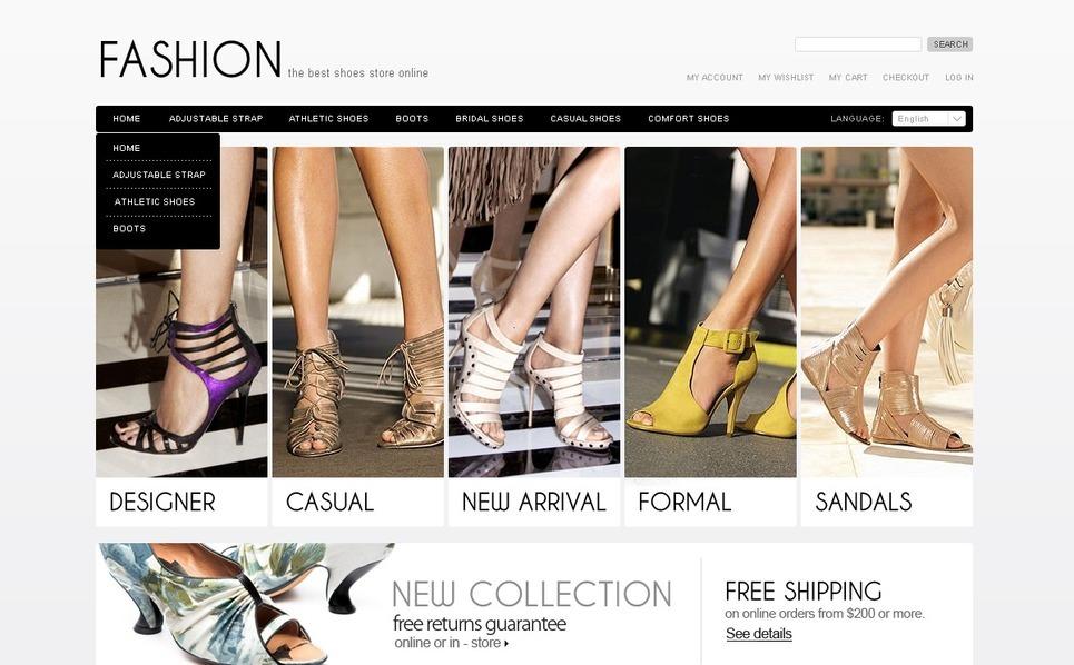 Shoe Store Magento Theme New Screenshots BIG