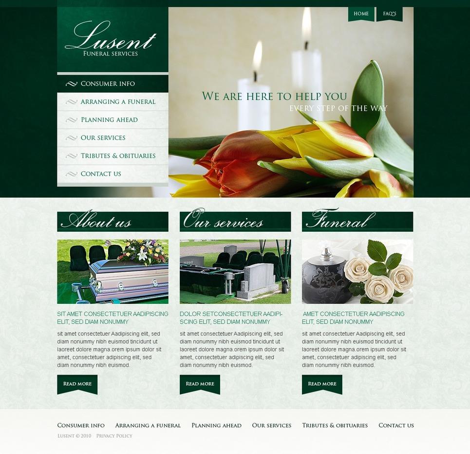 Funeral services website template 30293 - Funeral home website design ...