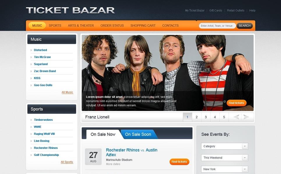 Tickets Website Website Template New Screenshots BIG