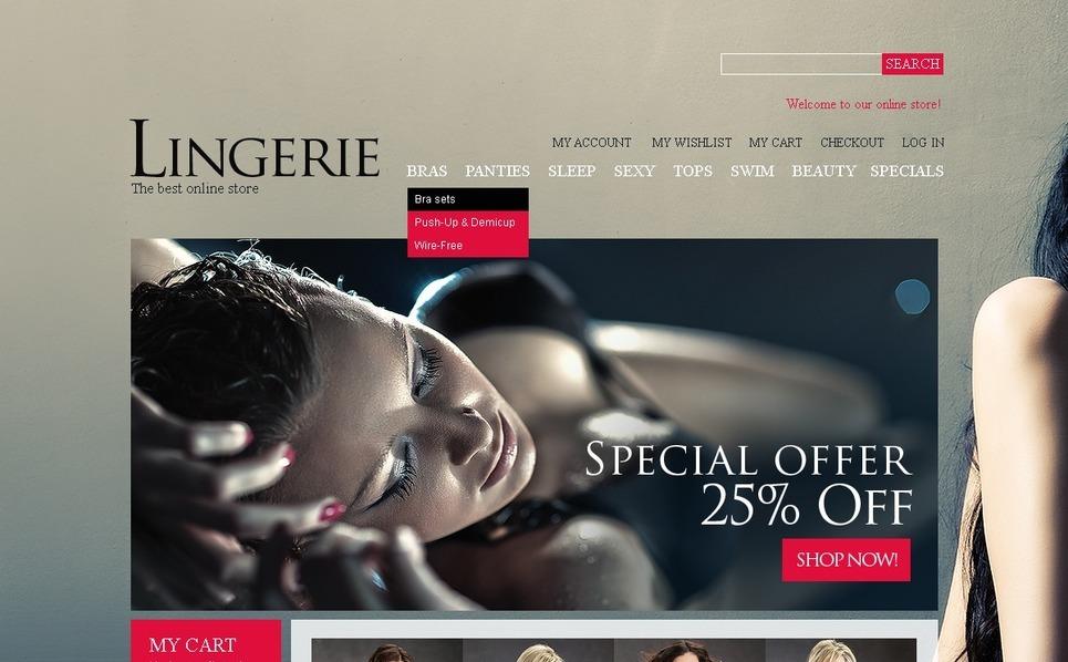 Lingerie Magento Theme New Screenshots BIG