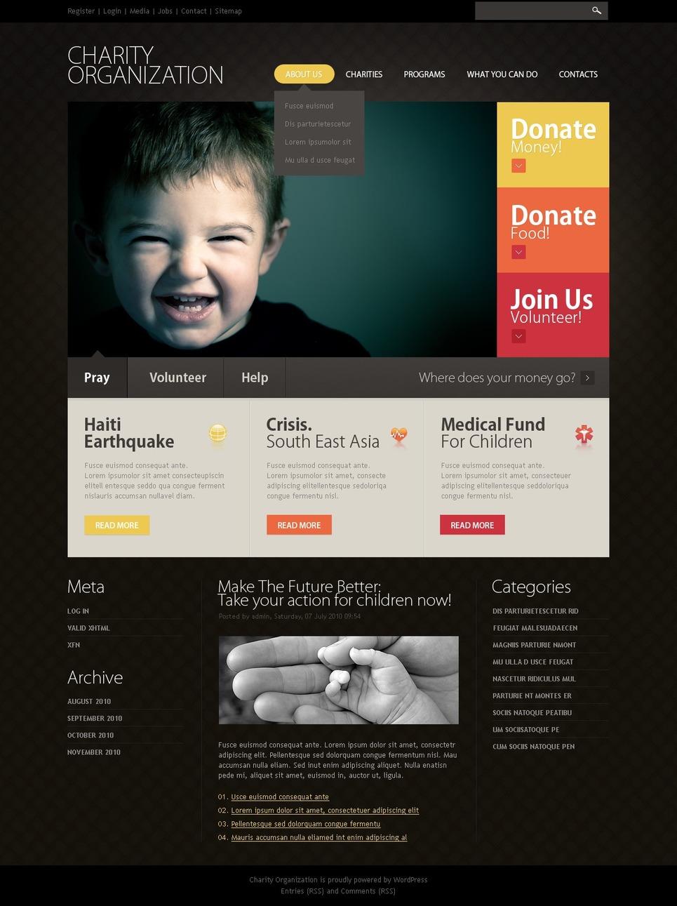Charity organization - Ultimate WordPress Charity Organization Theme