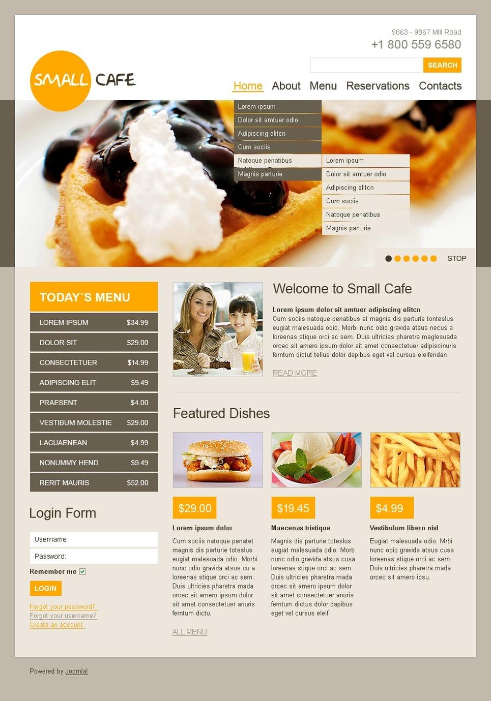 Cafe Joomla Template New Screenshots BIG