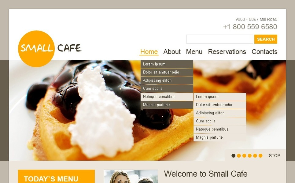 Cafe Joomla Template New Screenshots BIG
