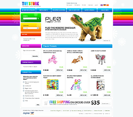 Toys stores - Refreshing Toy Store Magento Theme