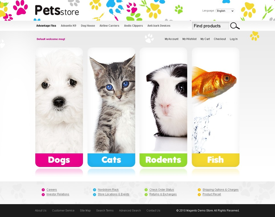 Pet Shop Magento Theme New Screenshots BIG