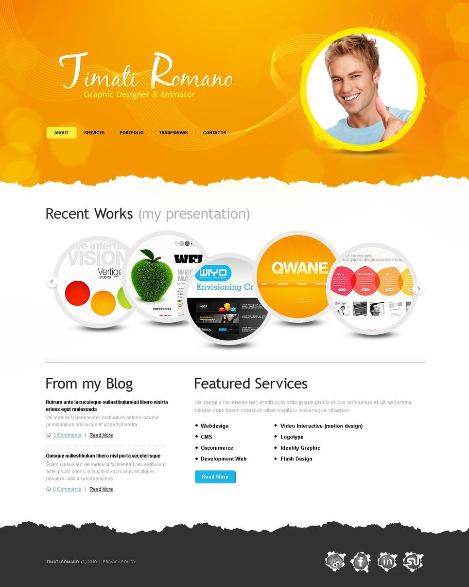 Designer Portfolio Website Template New Screenshots BIG