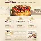 CSS Full Site Flash 8. Ссылка на демо.  Food & Drink Web Templates.
