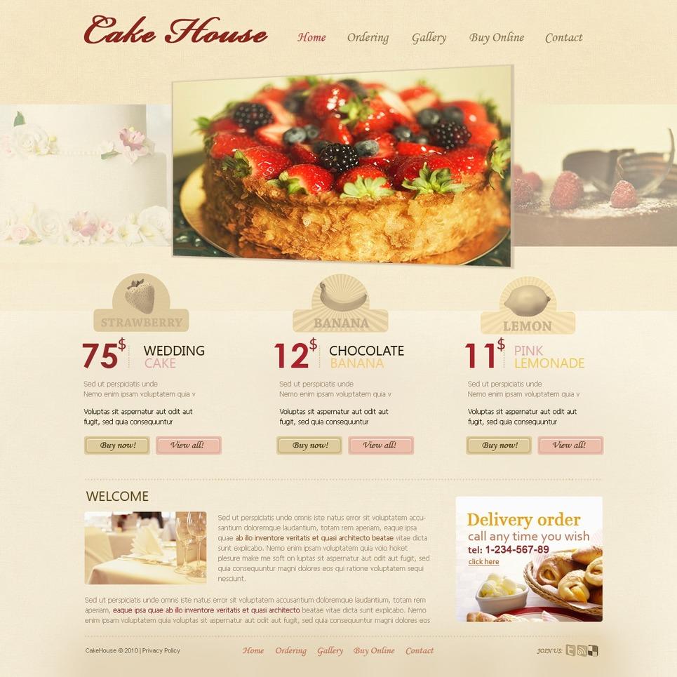 Sweet Shop Website Template New Screenshots BIG