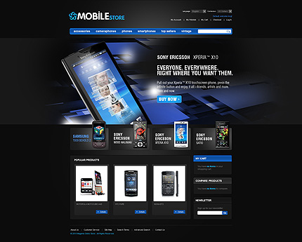 Mobile store - Exciting Electronic Store Magento Theme