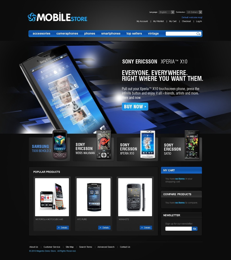 Mobile Store Magento Theme New Screenshots BIG