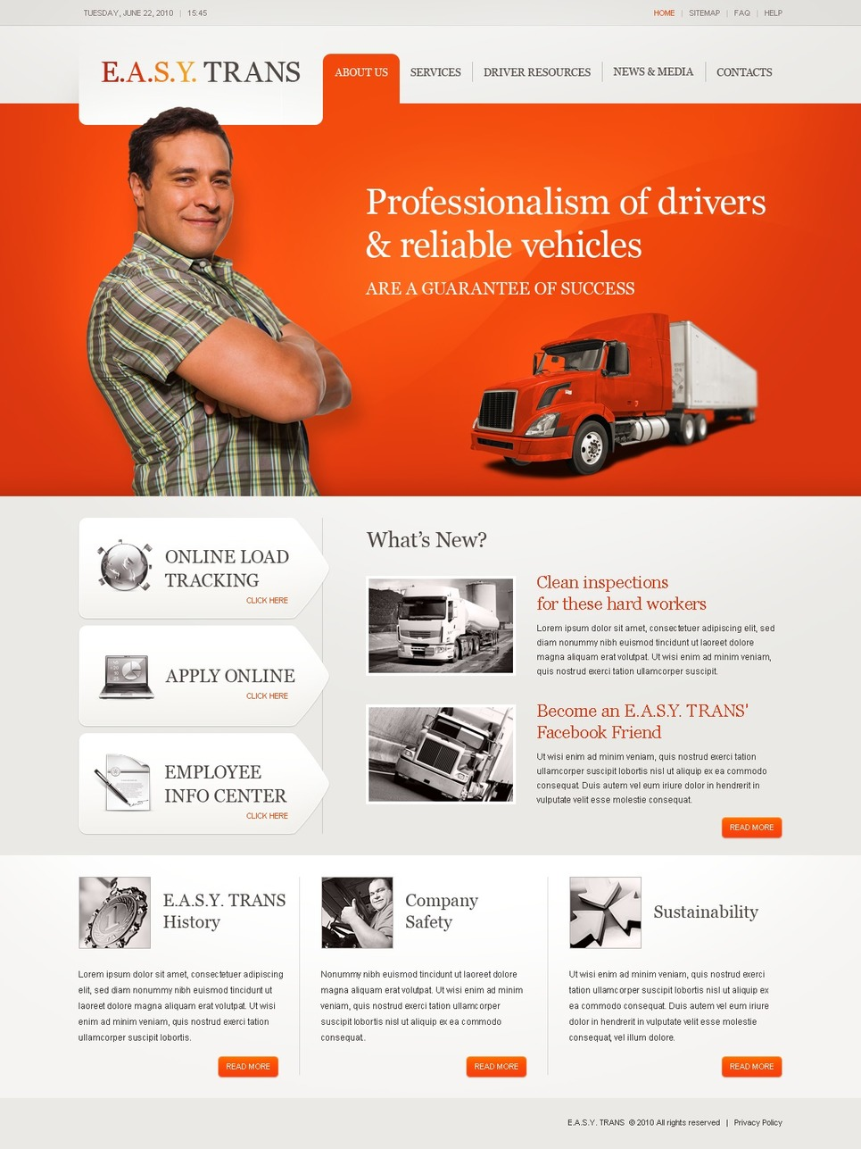 Trucking Website Template New Screenshots BIG