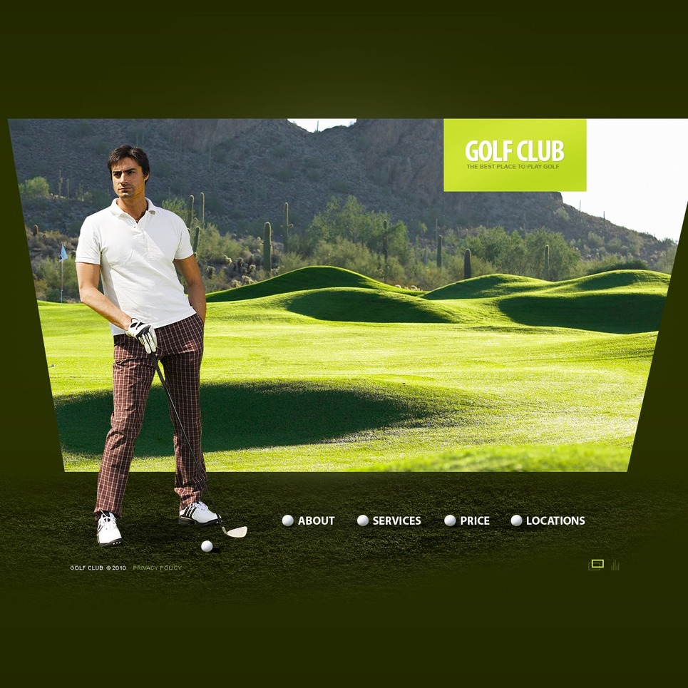 Golf Flash Template New Screenshots BIG