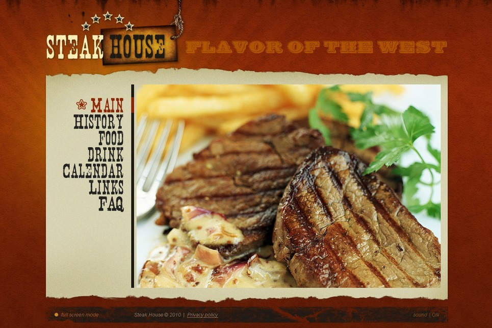 Steakhouse Flash Template New Screenshots BIG