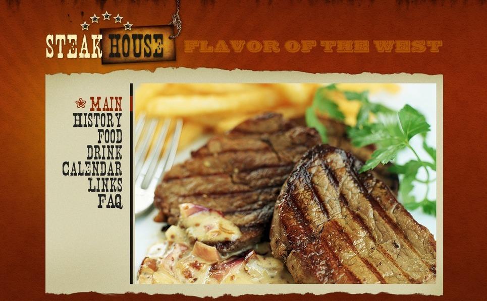 Steakhouse Flash Template New Screenshots BIG