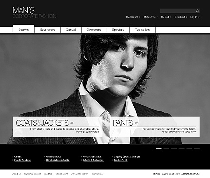 Man's corporate fashion - Stylish Apparel Store Template
