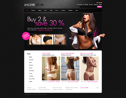 Lingerie Store - Amazing Magento Lingerie Store Template
