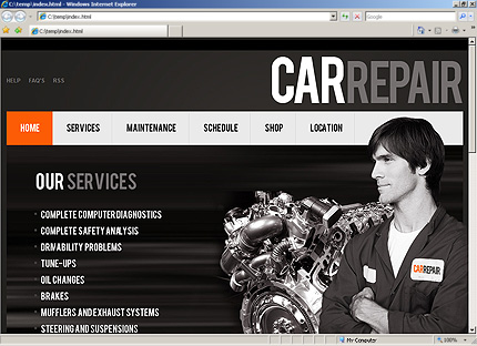Auto Repair Website Template on Website Templates   Template  30753   Car Repair Recovery Repairs
