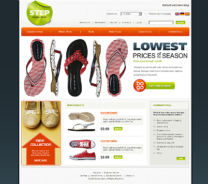 Step shoes stop - Surpassing Footwear Store Magento Template