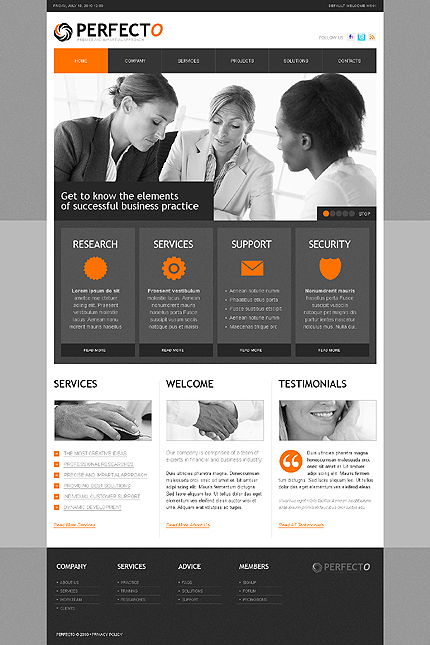 Business Website Template CSS photoshop