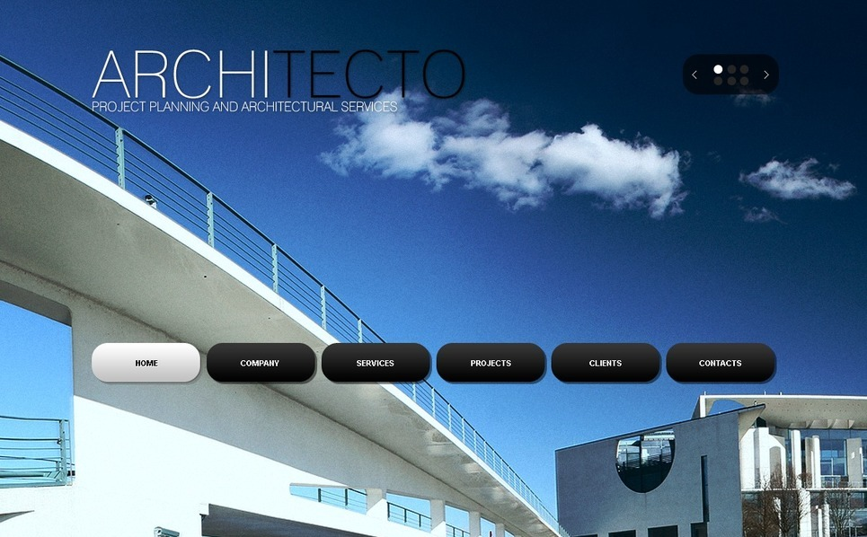 Architecture Website Template New Screenshots BIG