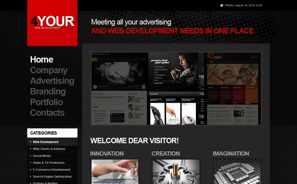 Web Development Website Template New Screenshots BIG