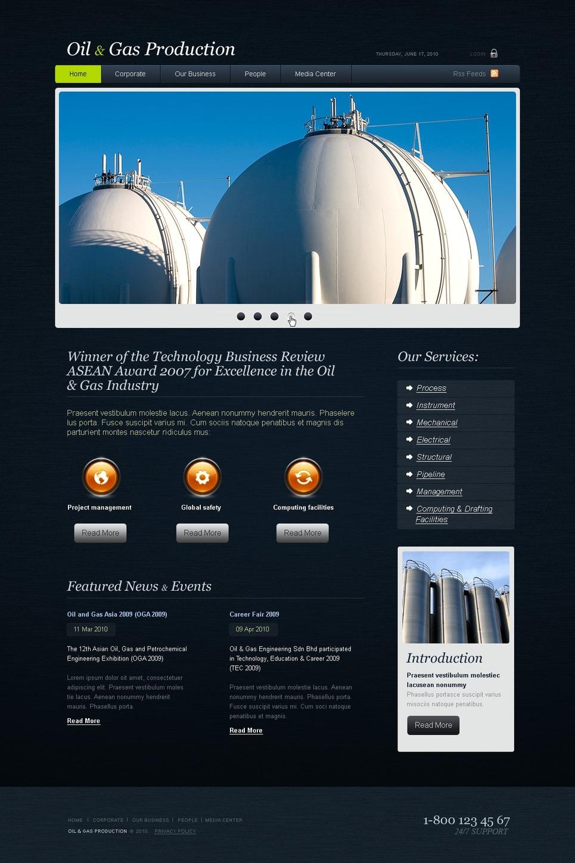Gas & Oil Website Template New Screenshots BIG