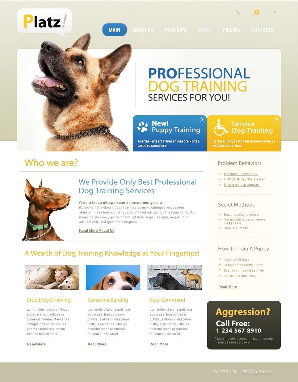Dog Website Template New Screenshots BIG