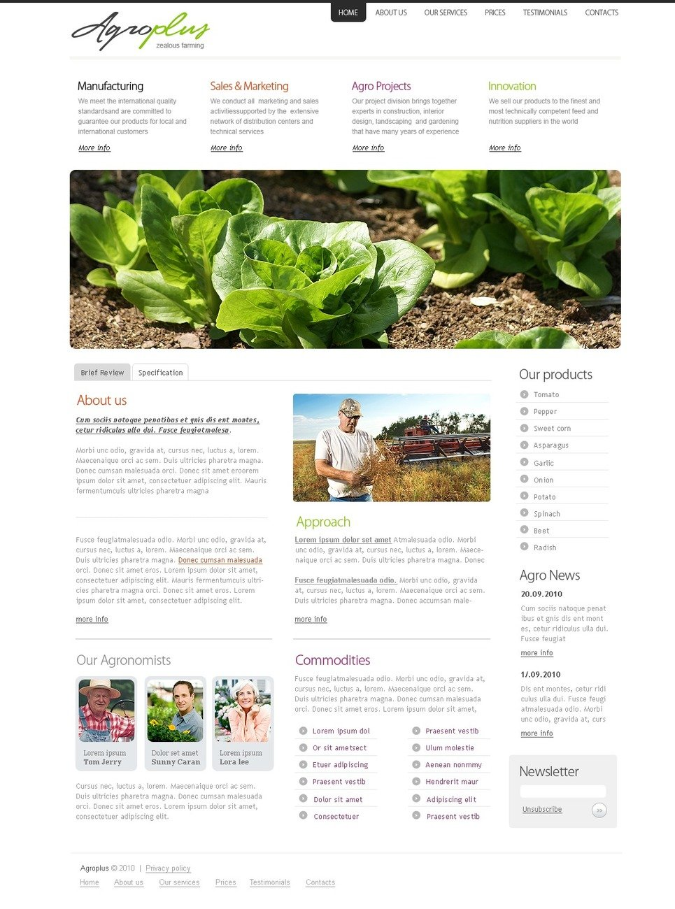 Agriculture Turnkey Website 2.0 New Screenshots BIG