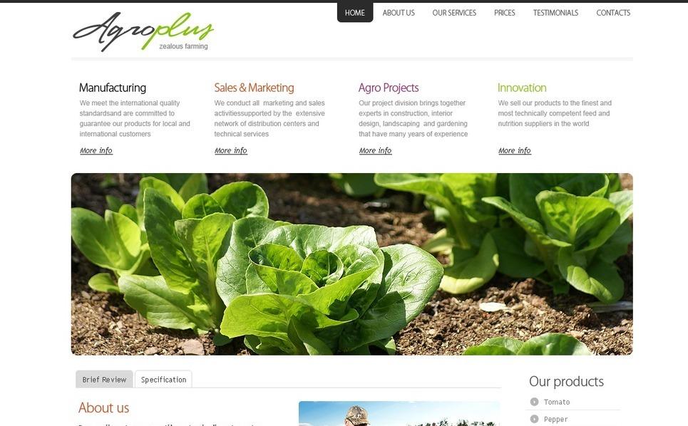Agriculture Turnkey Website 2.0 New Screenshots BIG