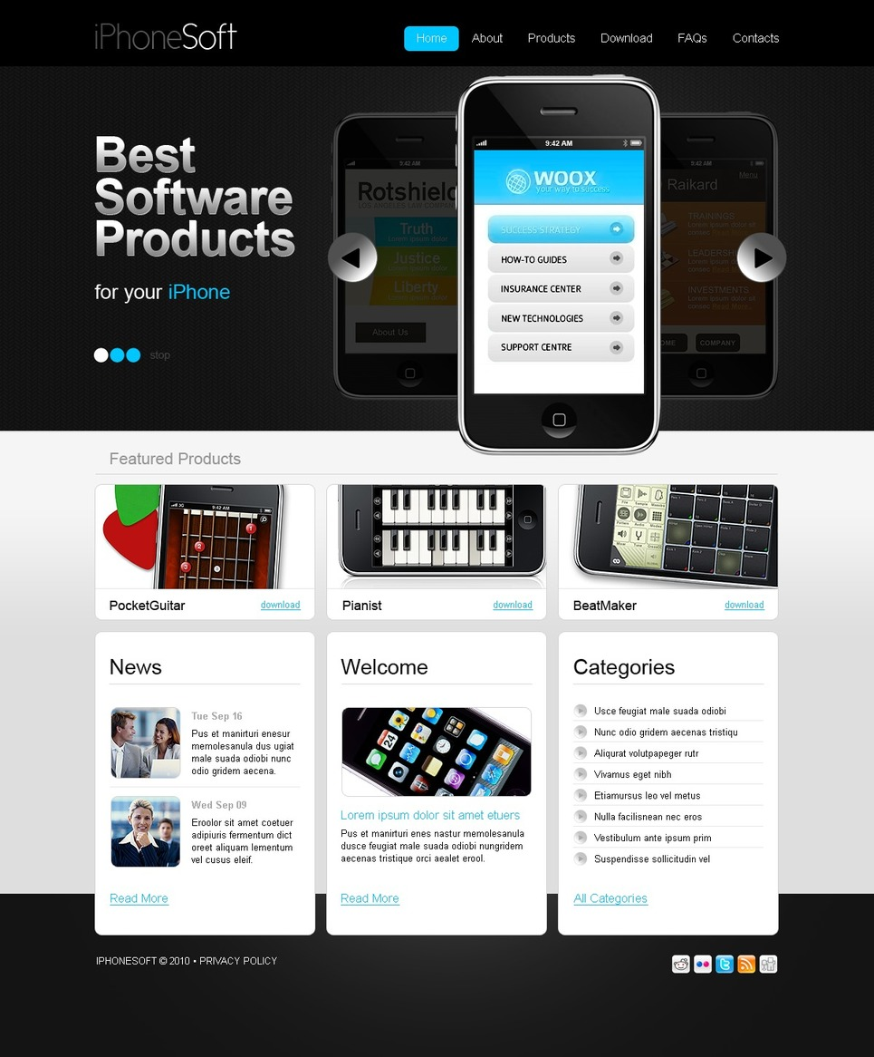 best software products website template web design templates website templates download best. Black Bedroom Furniture Sets. Home Design Ideas