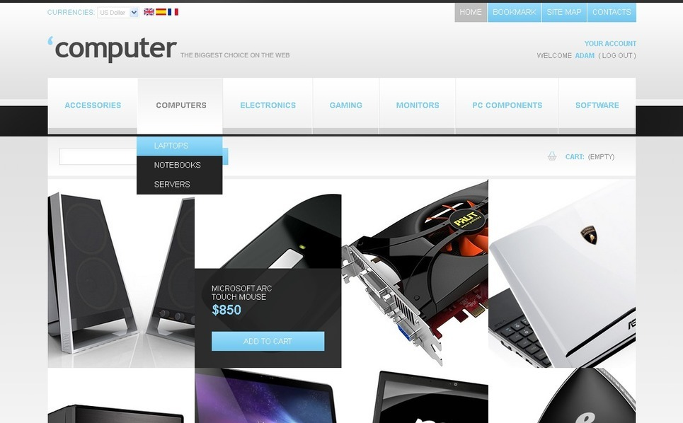 Electronics Minimal PrestaShop Theme New Screenshots BIG