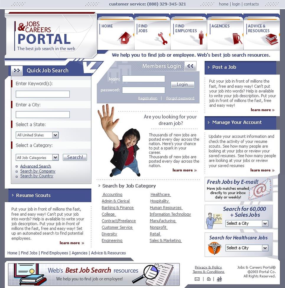 Job Portal PHP-Nuke Template New Screenshots BIG