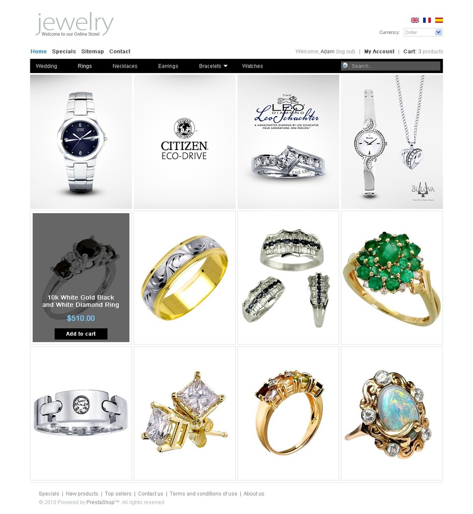 Clean Style Jewelry PrestaShop Theme New Screenshots BIG