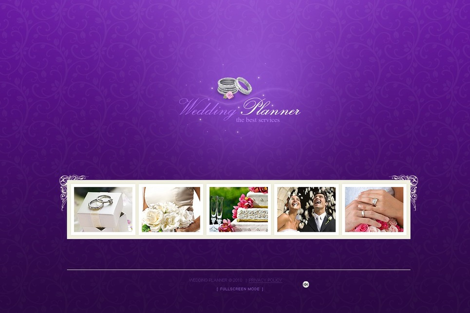 Wedding Planner Flash Template New Screenshots BIG