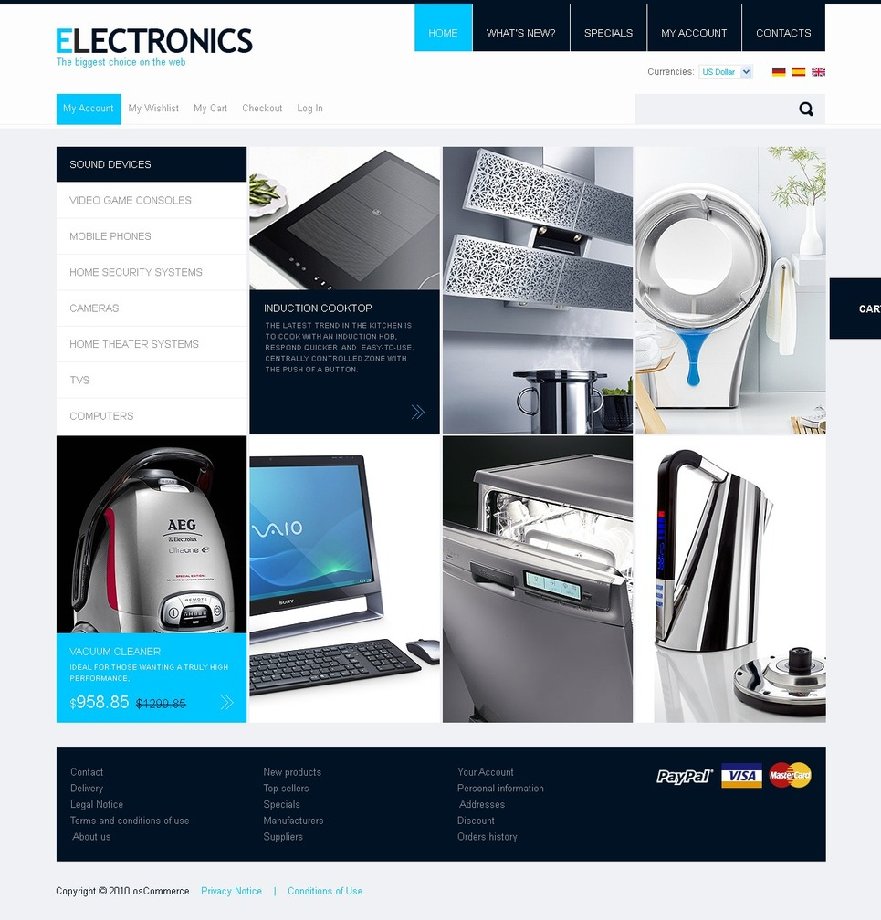 Home Appliance OSCommerce Template