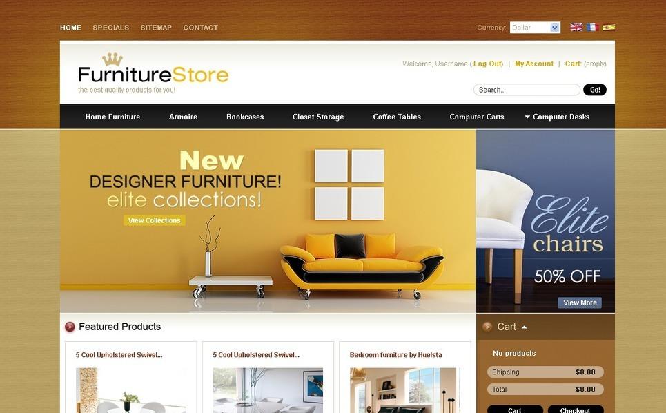 Royal Furniture PrestaShop Theme New Screenshots BIG