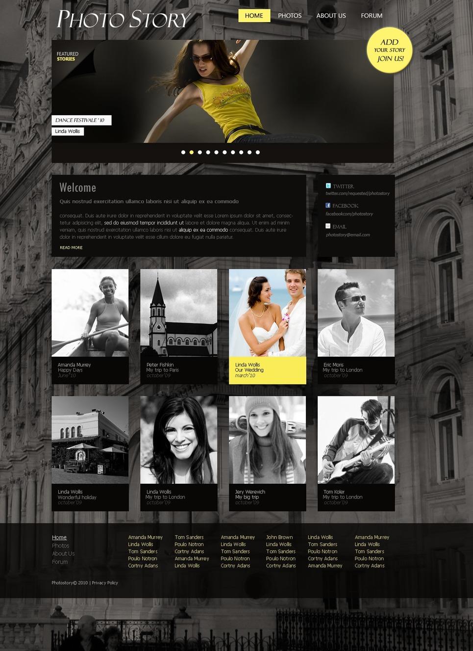 Photographer Portfolio Website Template New Screenshots BIG