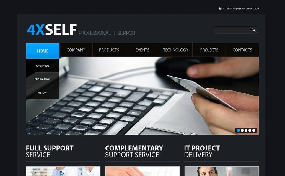 IT Website Template New Screenshots BIG