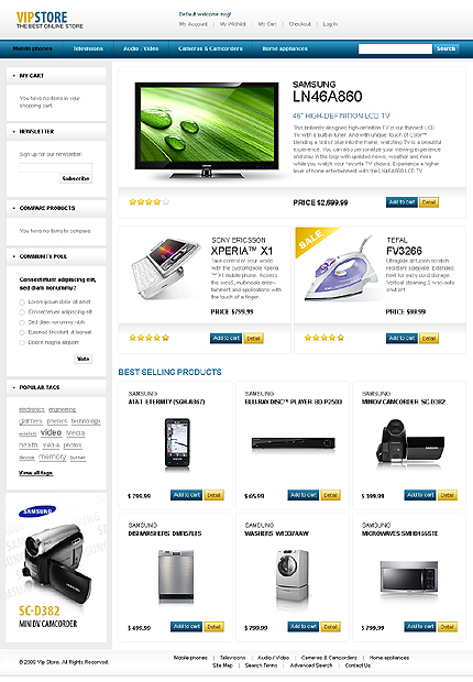 VIP store - Glossy Electronic Store Magento Theme