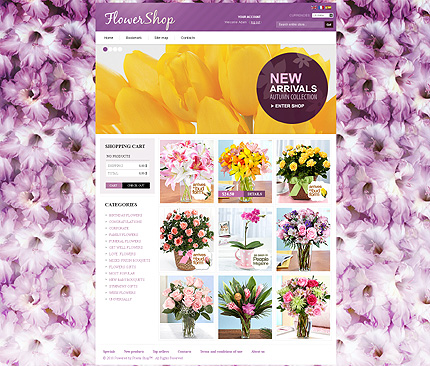 Orchid Flower Shop - Glamorous Flower Store PrestaShop Theme