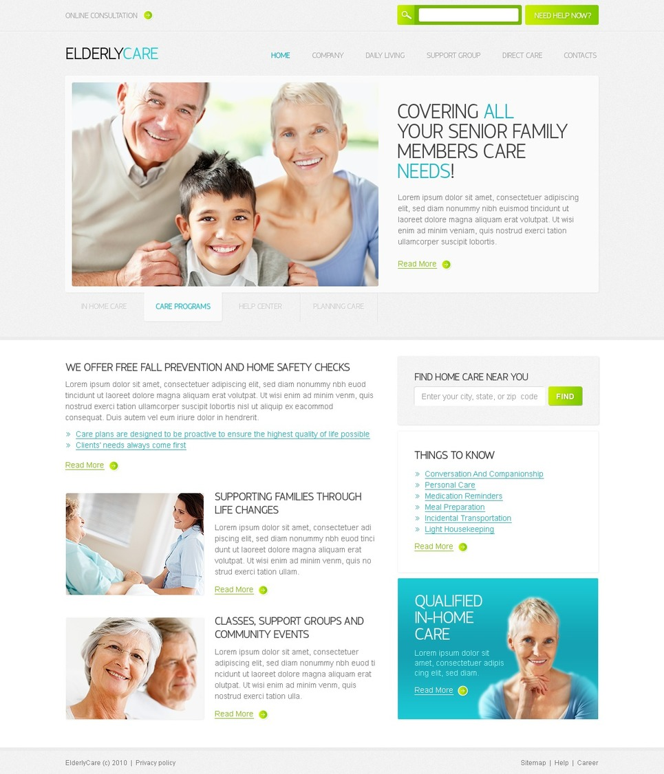Elderly Care Website Template New Screenshots BIG